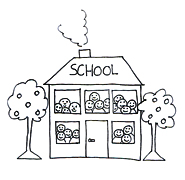 Sketch clipart school Pictures drawing School  childrens