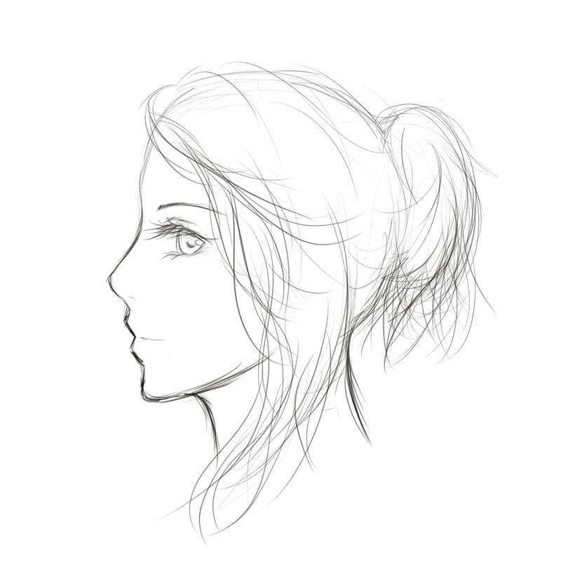 Sketch clipart side profile face By deviantart Sketch: Drawing: Side