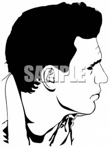 Sketch clipart side profile face Of clip art Man
