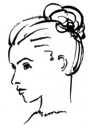 Sketch clipart side profile face Head profile up how draw
