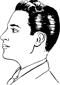 Sketch clipart side profile face Clip  Art at com