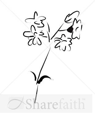 Sketch clipart simple Sketch  Flower Clipart Simple