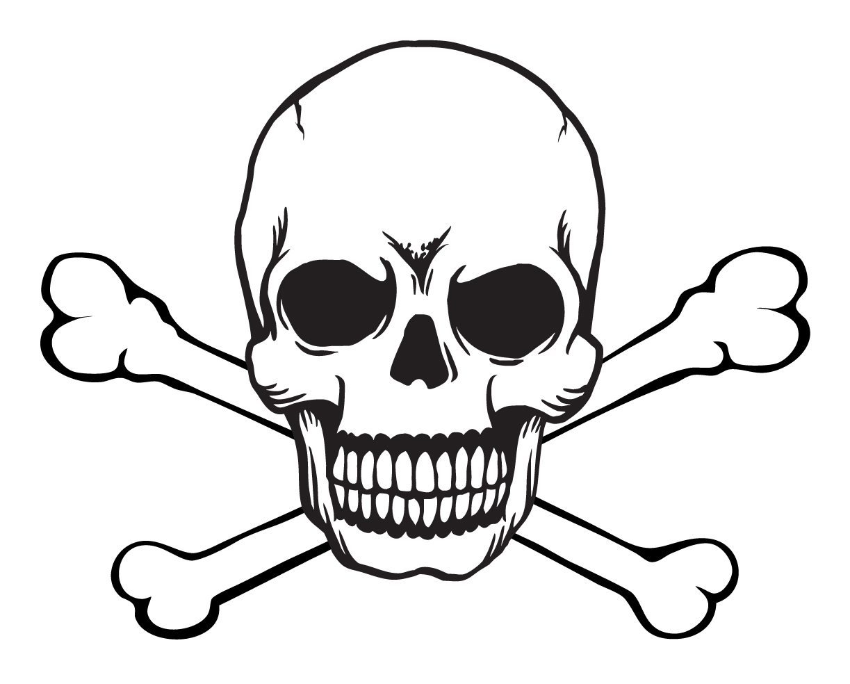 Sketch clipart skull and crossbones Free Free stencils  And