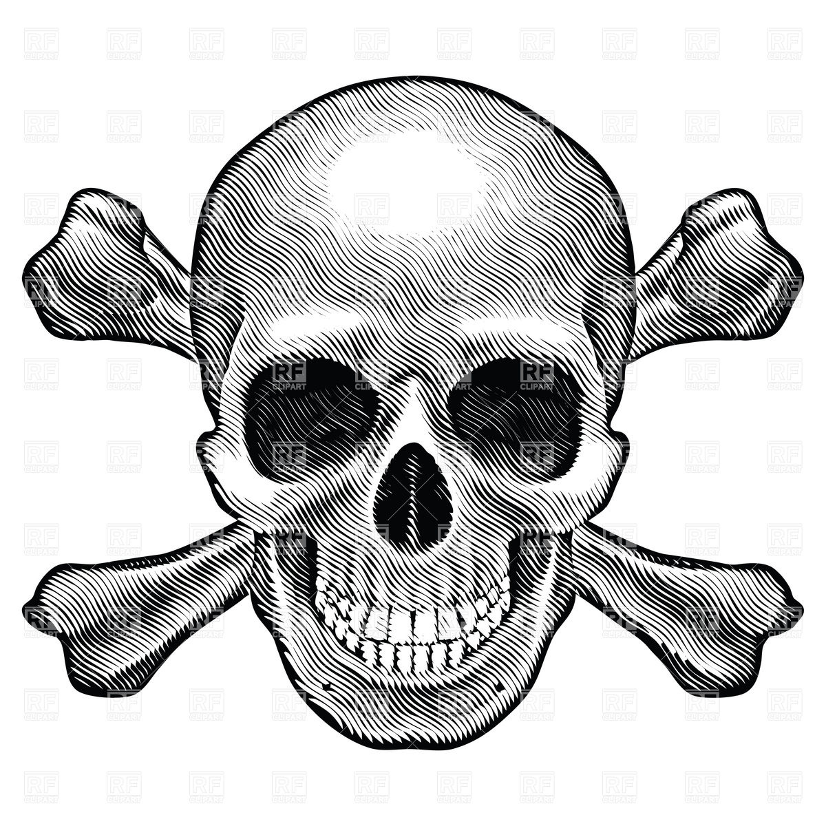 Sketch clipart skull and crossbones And sketch style clipart Crossbones