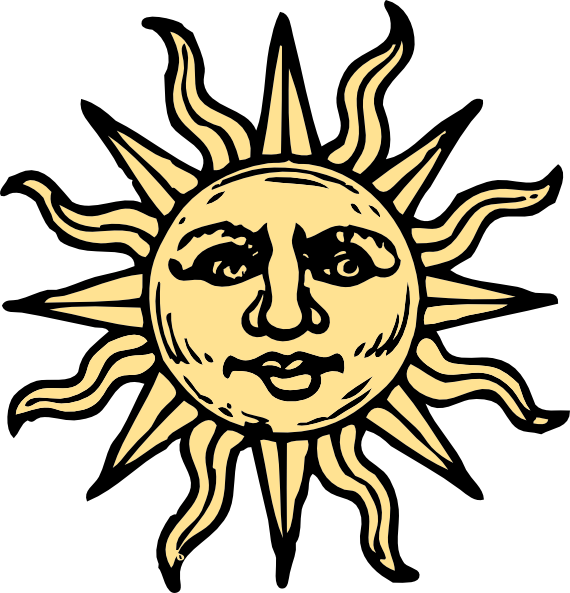 Triipy clipart vintage sun Art  art art vector