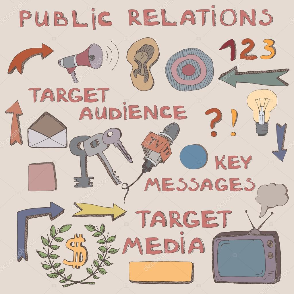 Sketch clipart target audience Symbols signs relations icons audience