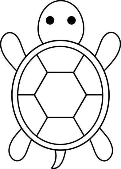 Simple clipart turtle #2