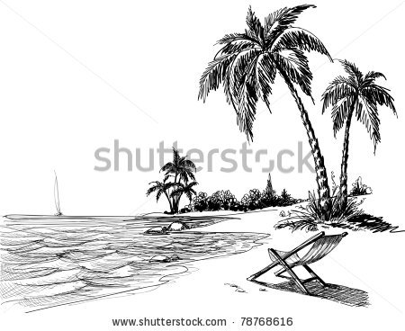 Sketch clipart tropical island Icon more! Clipart maps sketch