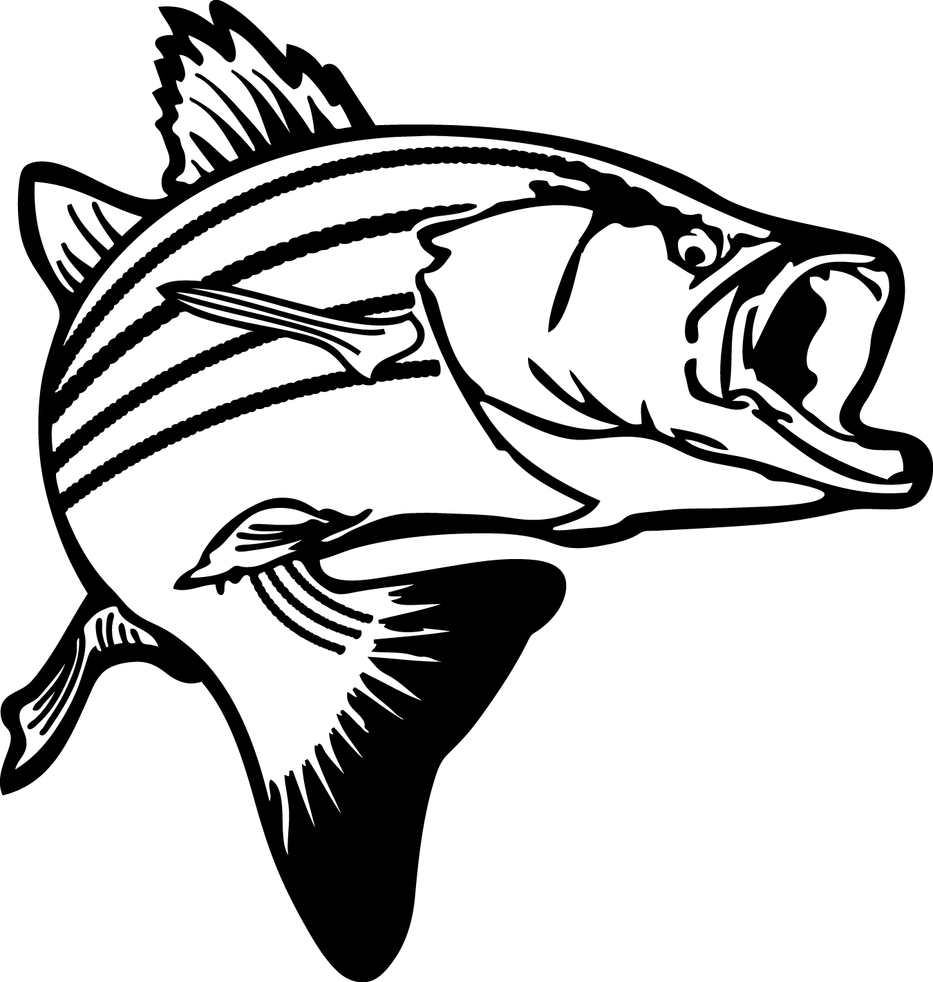 Seafood clipart christmas Bass Fish Art Clipart Clipart