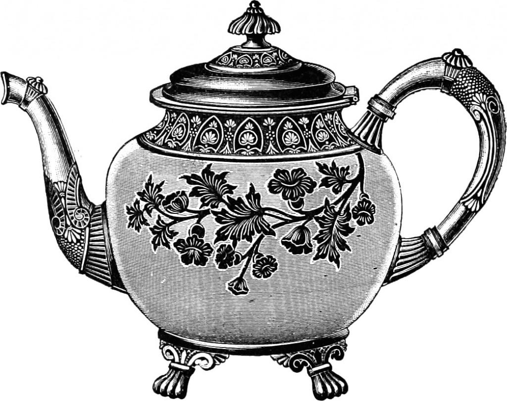 Drawn teapot Clip Teapot & Set Art