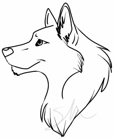 Simple clipart wolf Clip Easy Drawings Wolf Cute
