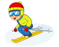 Ski clipart person skiing  Sports ski Water Water