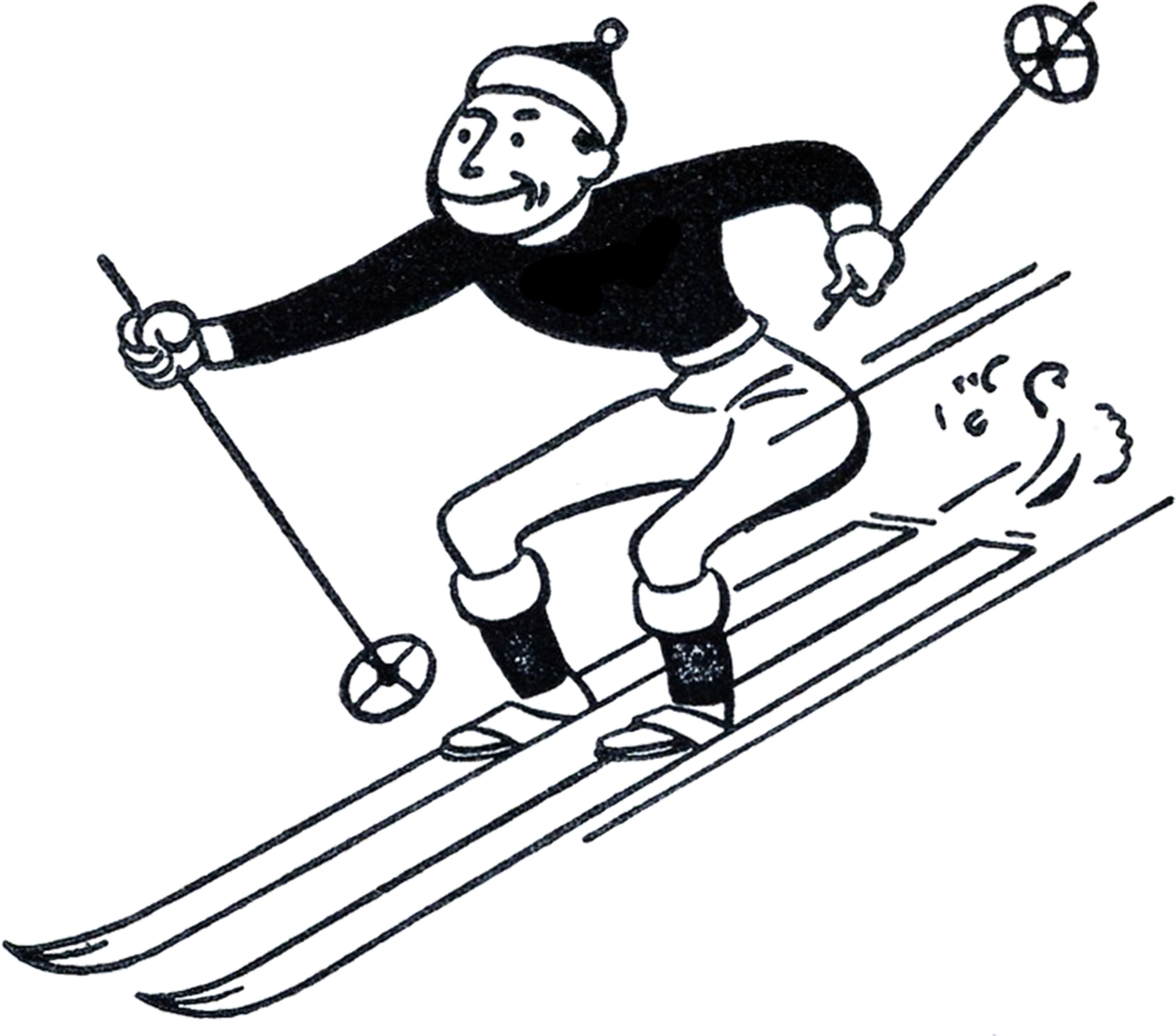 Ski clipart person skiing Free Panda Art Clipart Clipart