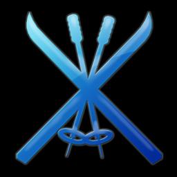 Ski clipart blue Tags ski 4 » (Ski)