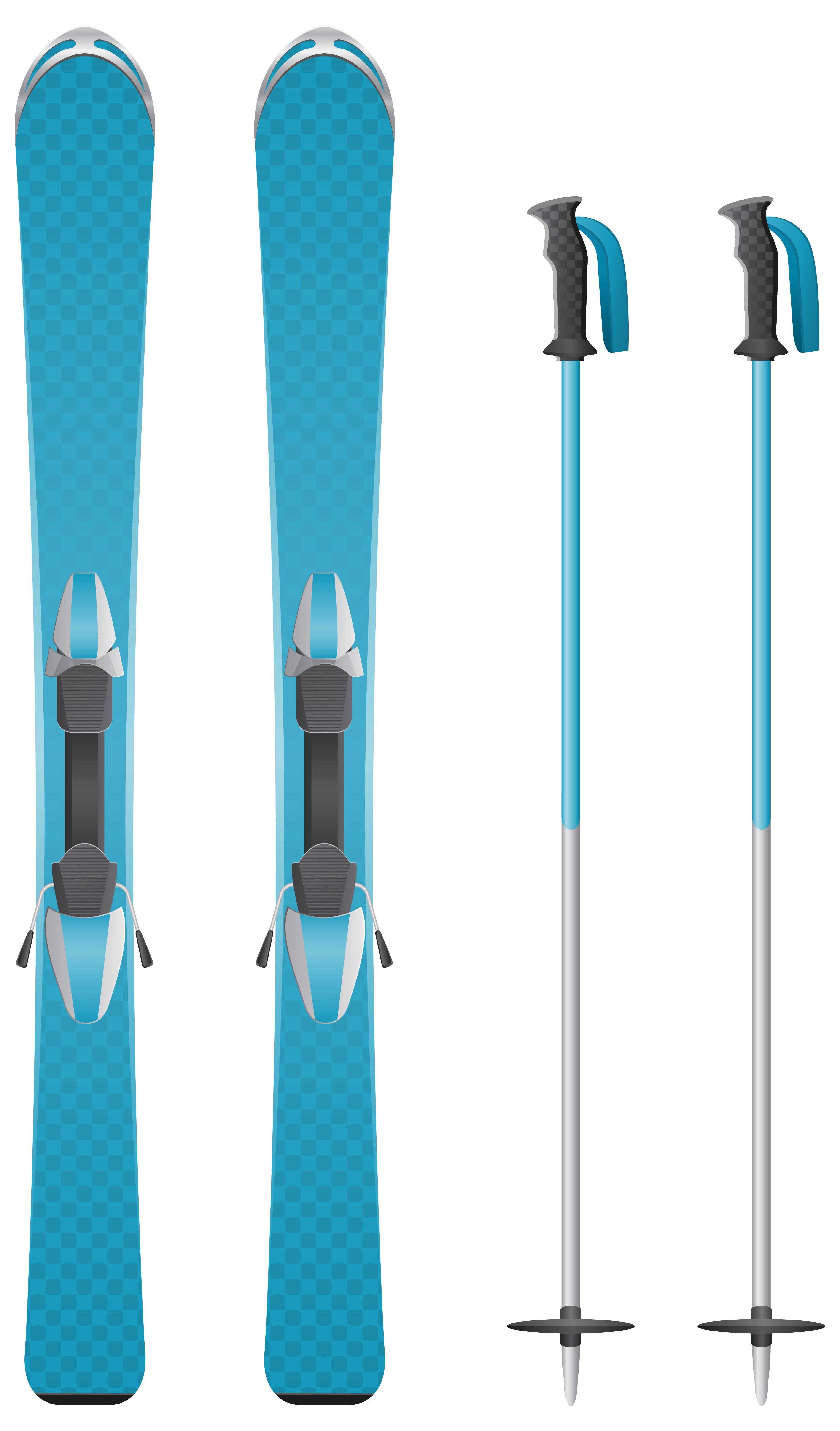 Ski clipart blue Yopriceville PNG  Clipart size