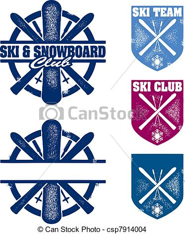 Ski clipart blue Of Stamps Snowboard csp7914004 Snowboard
