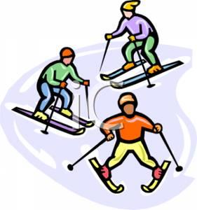 Ski clipart person skiing Clip Clipart Art Clip –