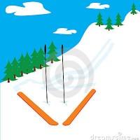 Ski clipart mountain skiing Clipart Skis Images Santa Clipart