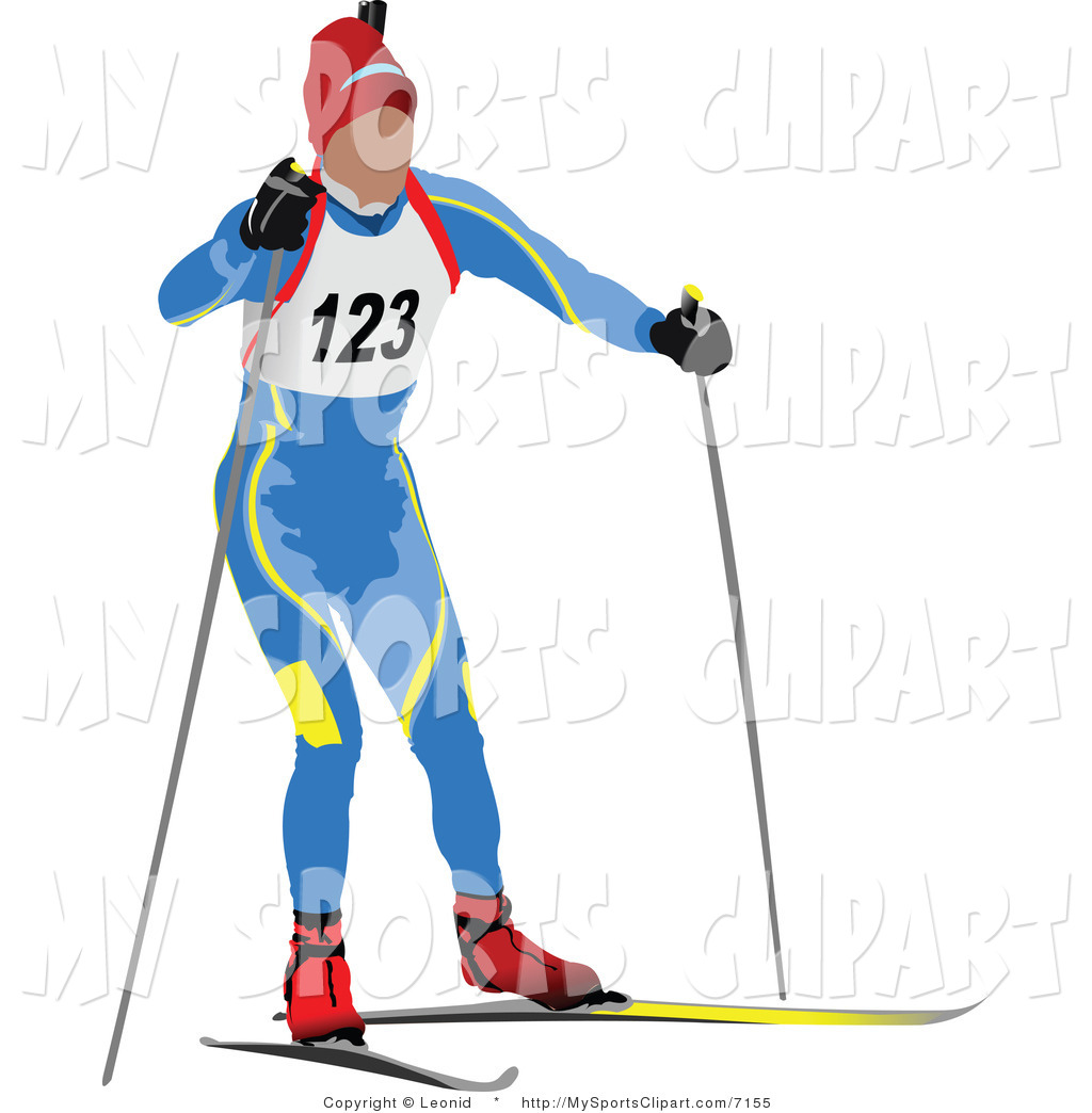 Ski clipart nordic skiing Icon Art Runner Biathlon by