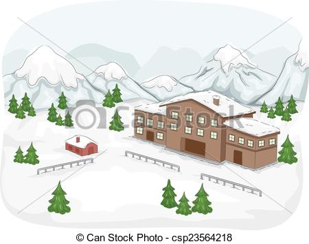 Ski Lodge clipart Csp23564218 Illustration Ski Ski a