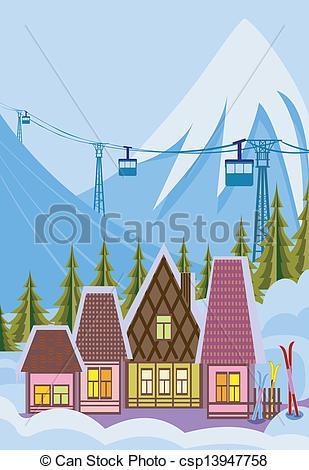 Ski Lodge clipart Of cliparts Art Clip Resorts