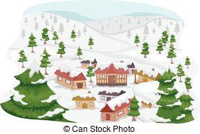 Ski Lodge clipart Ski Mascot Village Ski; of