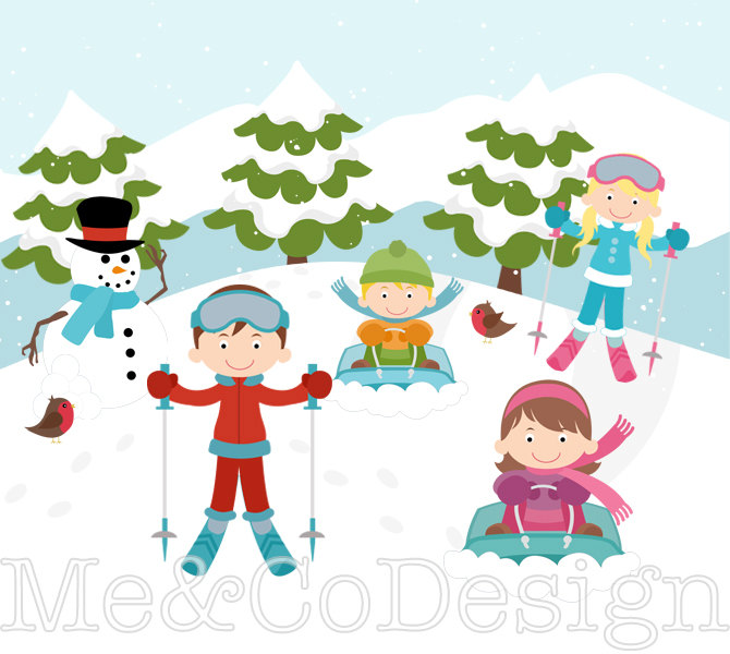 Skiing clipart family skiing Ski clipart Skiing Personal Download