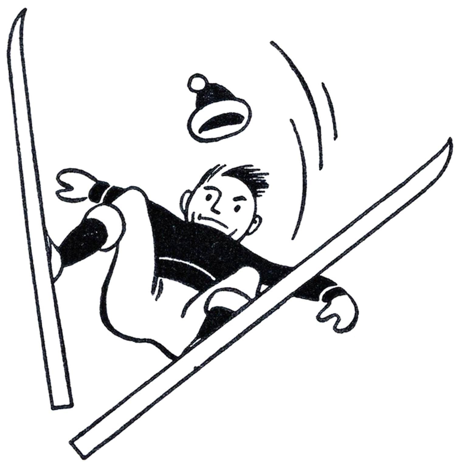 Crash clipart skier Skiing The Clipart Skiing Retro