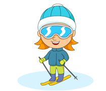 Snowboarding clipart downhill Skiing Sports  Sports wearing