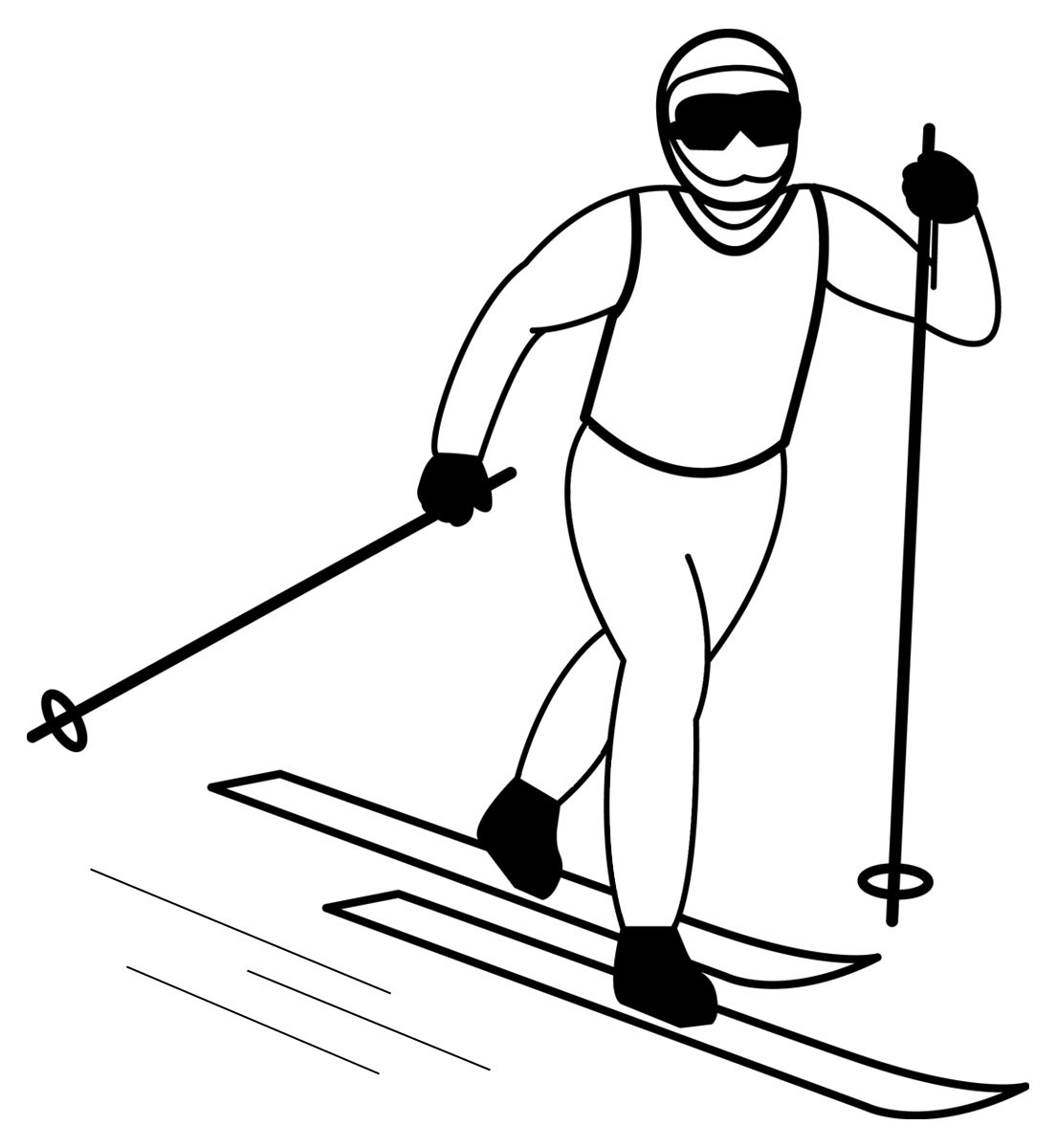 Skiing clipart black and white Free Art Clip Club Free