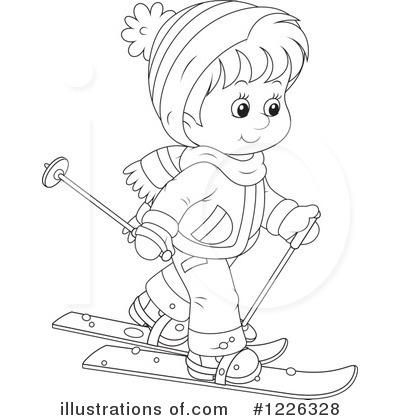Skiing clipart black and white Royalty Bannykh (RF) Alex Illustration
