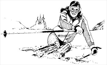 Skiing clipart black and white Skiing Photos Skiing and Free