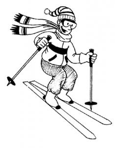 Skiing clipart black and white Ski Download Bw Art 1
