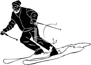 Skiing clipart black man Picture Royalty a Man Clipart