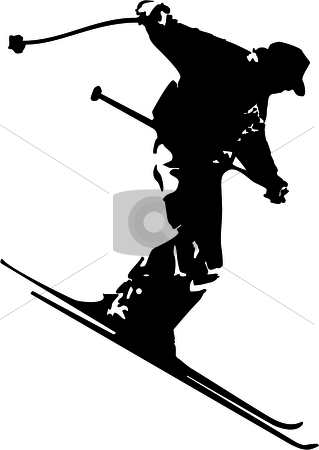 Skiing clipart black man Stock man Skiing Skiing man