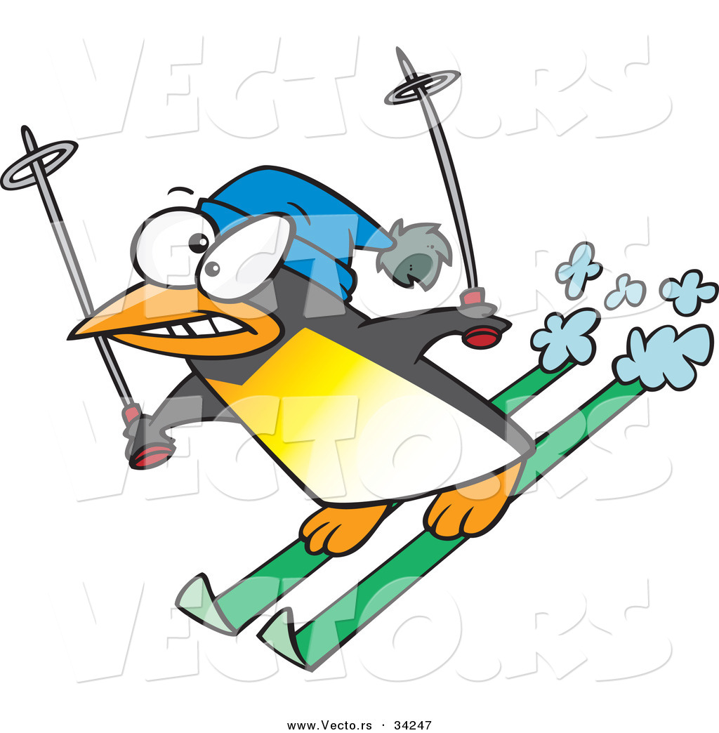 Animal clipart skiing Nervous a  Collection of