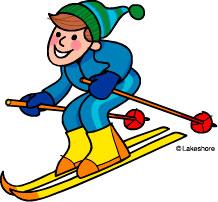 Skiing clipart cartoon Cartoon clipart clipart skier skier