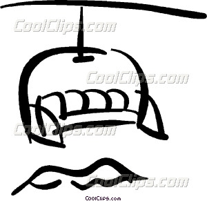 Skiing clipart chairlift Chair lift lift chair Vector