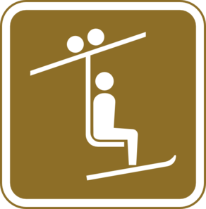 Skiing clipart chairlift Ski clip Sign vector Clip