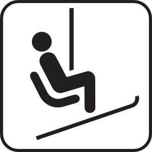 Skiing clipart chairlift Clip Chair at Chair Art