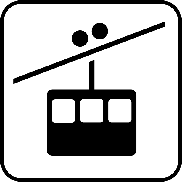 Skiing clipart chairlift Download online Art art as: