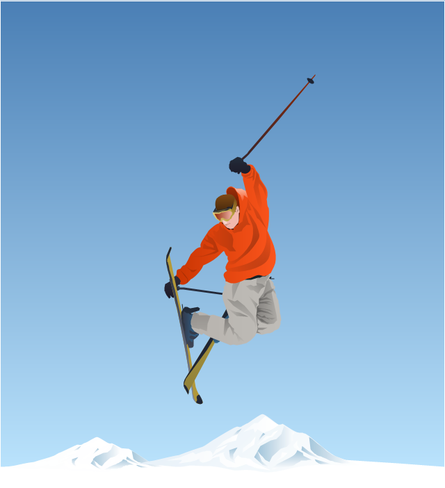 Skiing clipart freestyle skiing Clipart Winter skier Sports freestyle