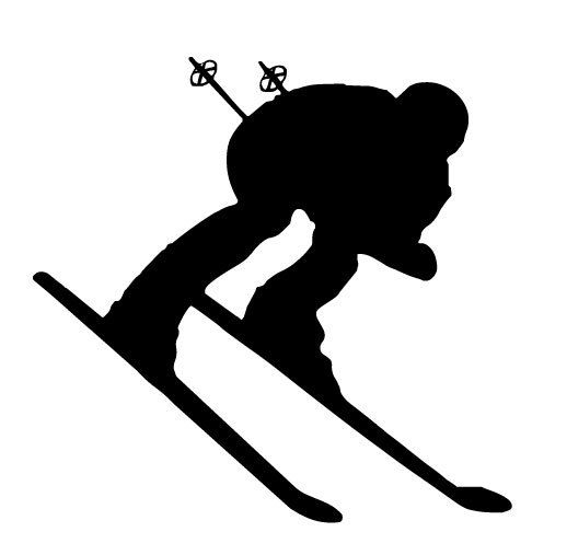 Skiing clipart freestyle skiing Com about 20 on Silhouette
