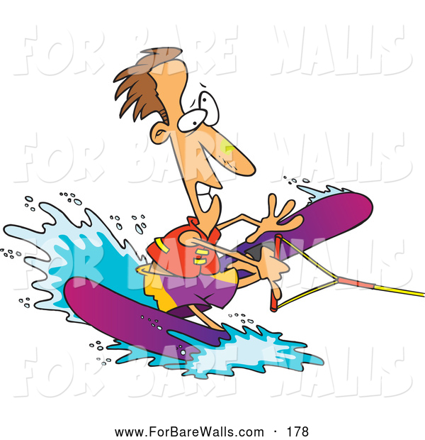 Skiing clipart goofy A Water Clumsy Illustration Man