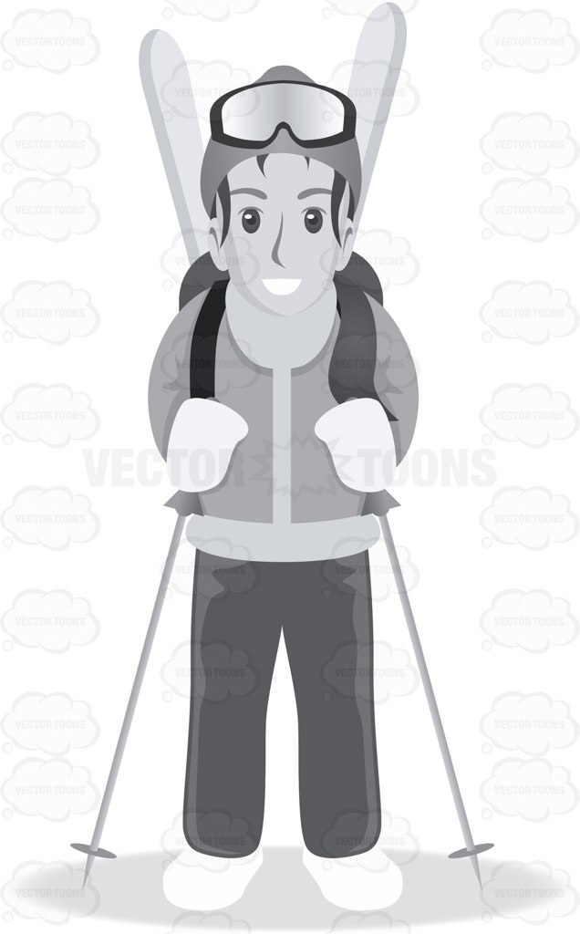 Skiing clipart winter activity In Tourist Ski and