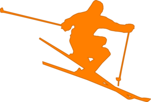 Skiing clipart mountain skiing Clip online Skier Clker clip