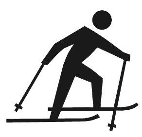 Ski clipart cross country skiing Skiing cross skiing country cross