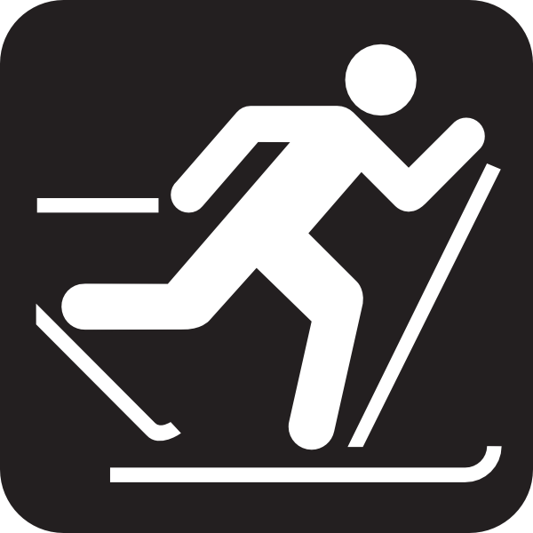 Skiing clipart nordic skiing As: Trail  Black Country
