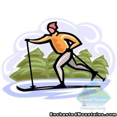 Skiing clipart nordic skiing Ie105_BoySkiing Cross country Two art