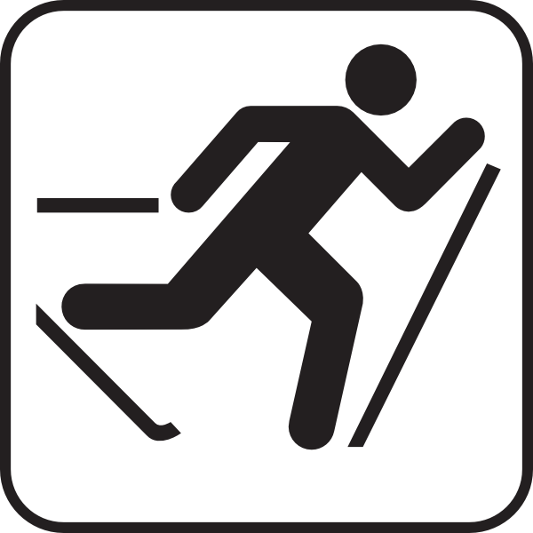 Skiing clipart nordic skiing Trail at Cross Clker Clip